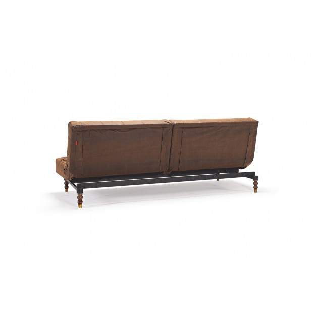 Oldschool Retro sovesofa. 115 x 200 cm. Leather Look.-01