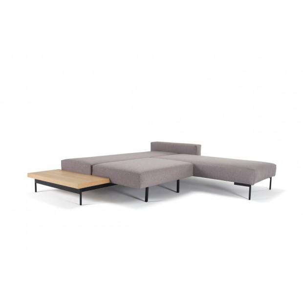 Bragi sovesofa, m. bord.140 x 200 cm. Light grey.-01