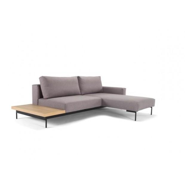 Bragi sovesofa, m. bord.140 x 200 cm. Light grey.-31