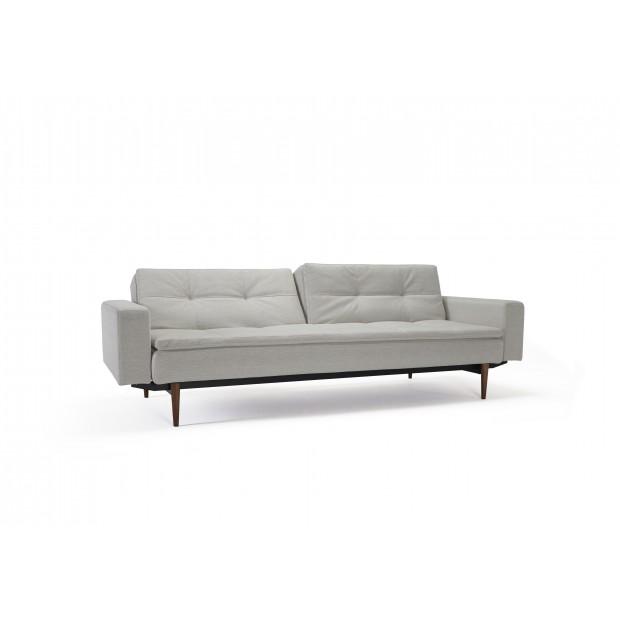Dublexo sovesofa med polstrede armlæn. 115 x 200 cm. 3 farver.-31
