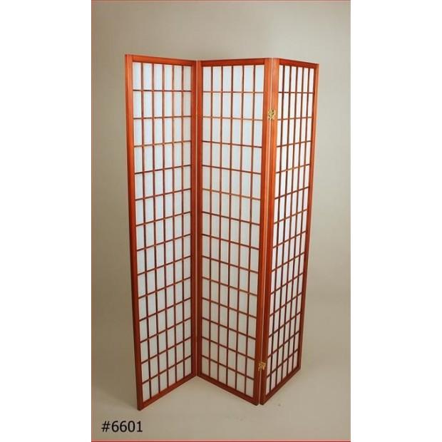 Foldeskærm mahogni 3 fag-32