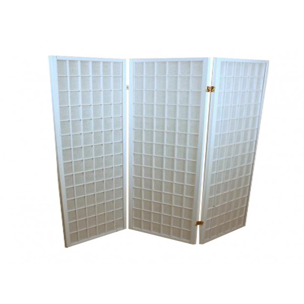Foldeskærm hvid 3 fag-31