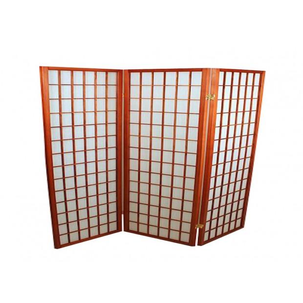 Foldeskærm mahogni 3 fag-31