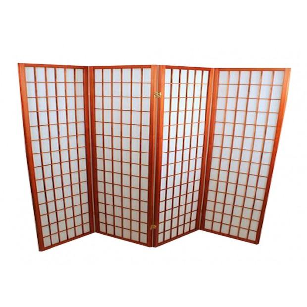 Foldeskærm mahogni 4 fag-31