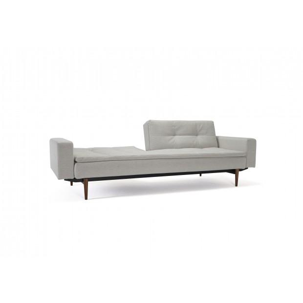 Dublexo sovesofa med polstrede armlæn. 115 x 200 cm. 3 farver.-01