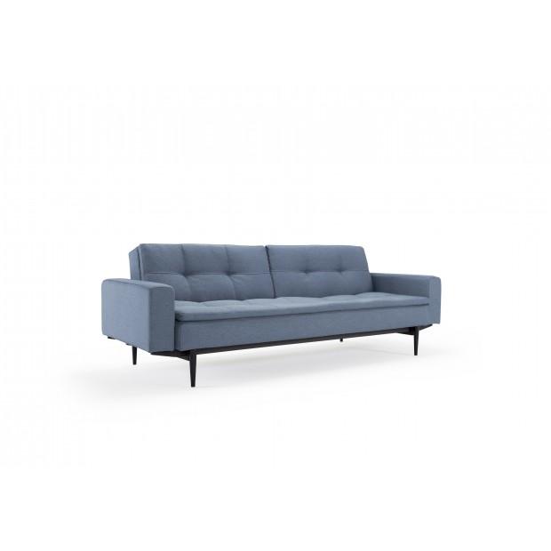 Dublexo sovesofa med polstrede armlæn. 115 x 210 cm. 3 farver.-33
