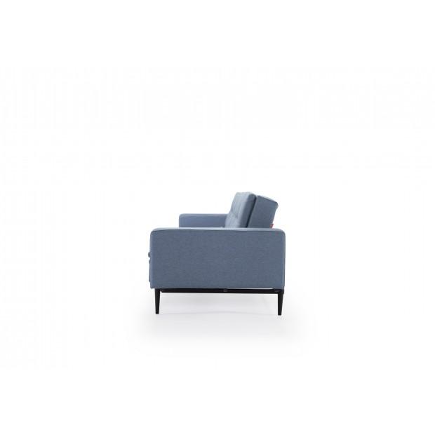 Dublexo sovesofa med polstrede armlæn. 115 x 210 cm. 3 farver.-03