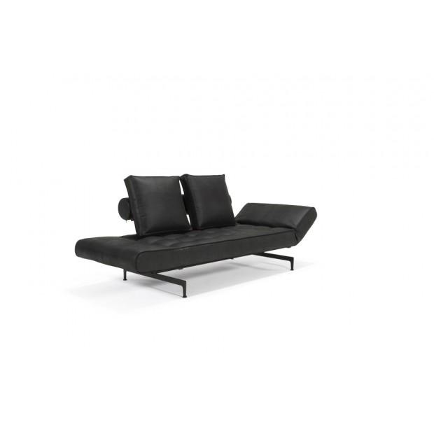 Ghia Laser, daybed med sorte stålben. 80 x 210 cm. 3 farver.-01