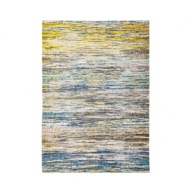 Sari Blue Yellow Mix-01
