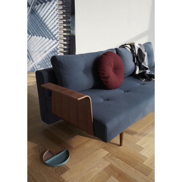 Recast Plus sovesofa, med armlæn, valnød finér. 140 x 200 cm. 3 farver.-31