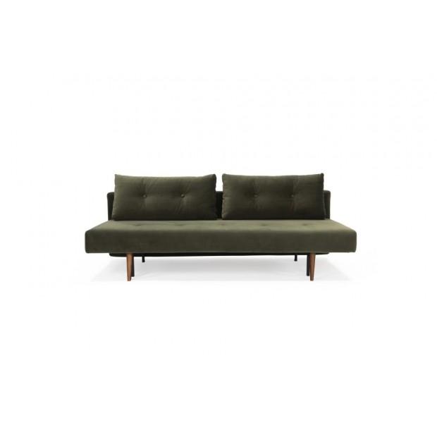 Recast Plus sovesofa, med armlæn, valnød finér. 140 x 200 cm. 3 farver.-01