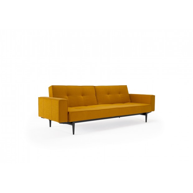Splitback sovesofa, med stofarmlæn. 115 x 210 cm. 6 farver.-31