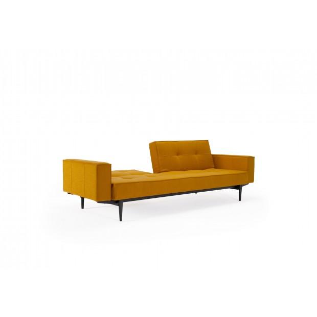 Splitback sovesofa, med stofarmlæn. 115 x 210 cm. 7 farver.-01
