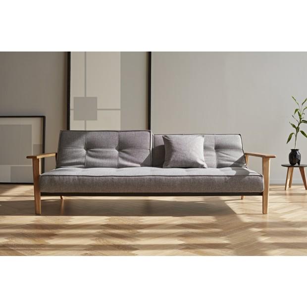 Splitback Frej sovesofa. 115 x 210 cm. 6 farver. Armlæn: Natur eller sortlakeret.-03