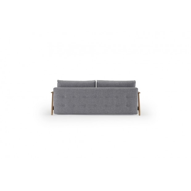 Eluma Deluxe Button sovesofa, 140 x 200 cm. Twist Granite.-01