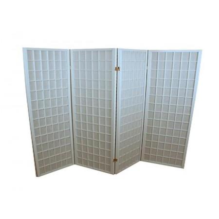 Foldeskærm hvid 4 fag-20