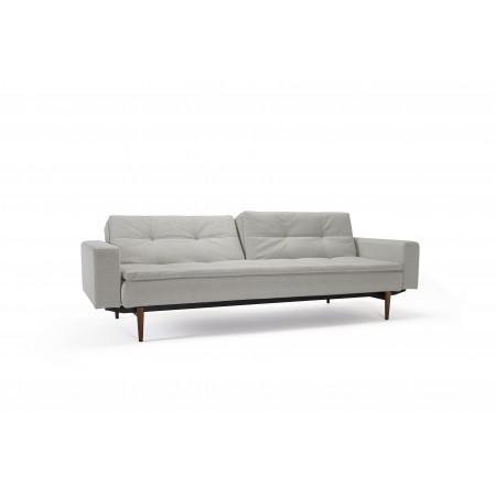Dublexo sovesofa med polstrede armlæn. 115 x 200 cm. 3 farver.-20