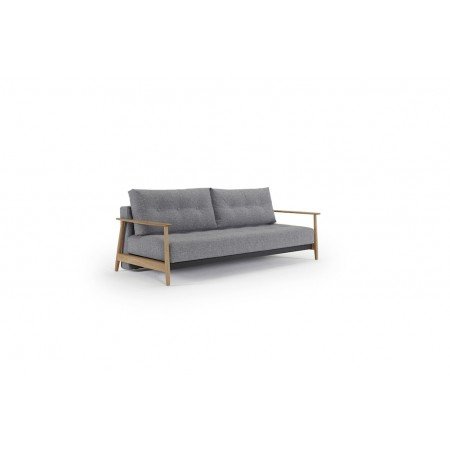 Eluma Deluxe Button sovesofa, 140 x 200 cm. Twist Granite.-20