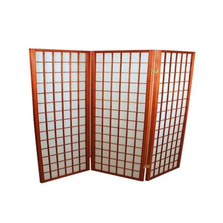 Foldeskærm mahogni 3 fag-20