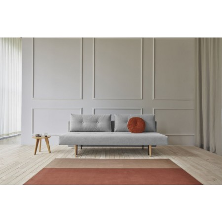 Recast Plus Light Styletto sovesofa, 140 x 200 cm.Micro Check, Grey-20