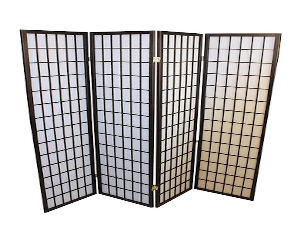 Foldeskærm sort 4 fag-20