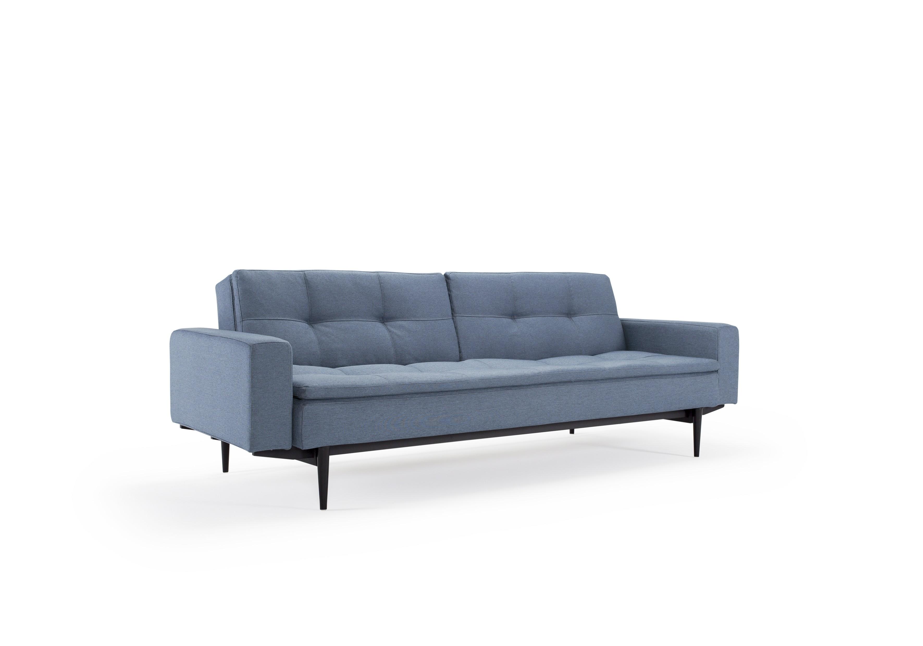 Dublexo sovesofa med polstrede armlæn. 115 x 210 cm. 3 farver.-20