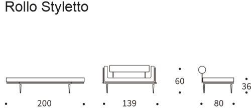 Rollo-styletto